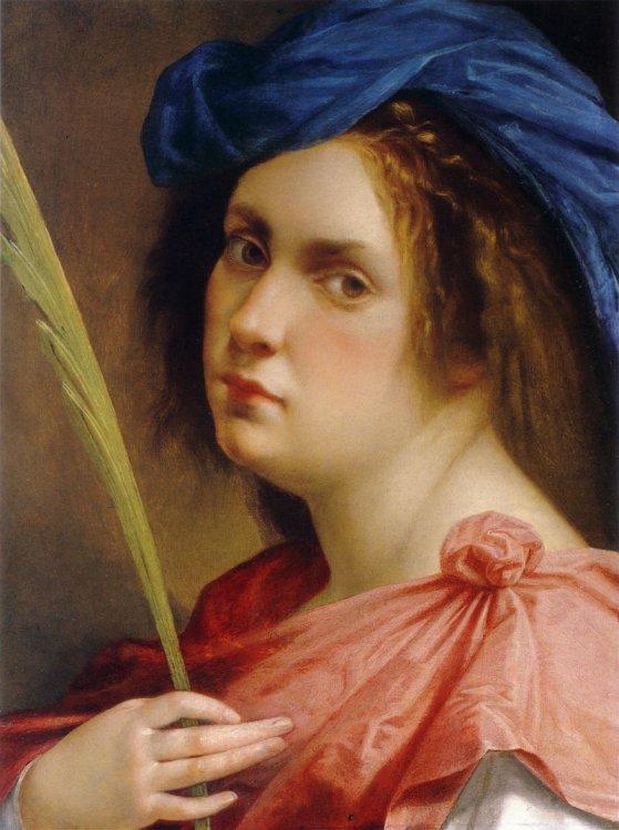Artemisia gentileschi selfportrait martyr
