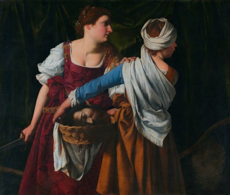 Judith and her maidservant with the head of holofernes, by orazio gentileschi