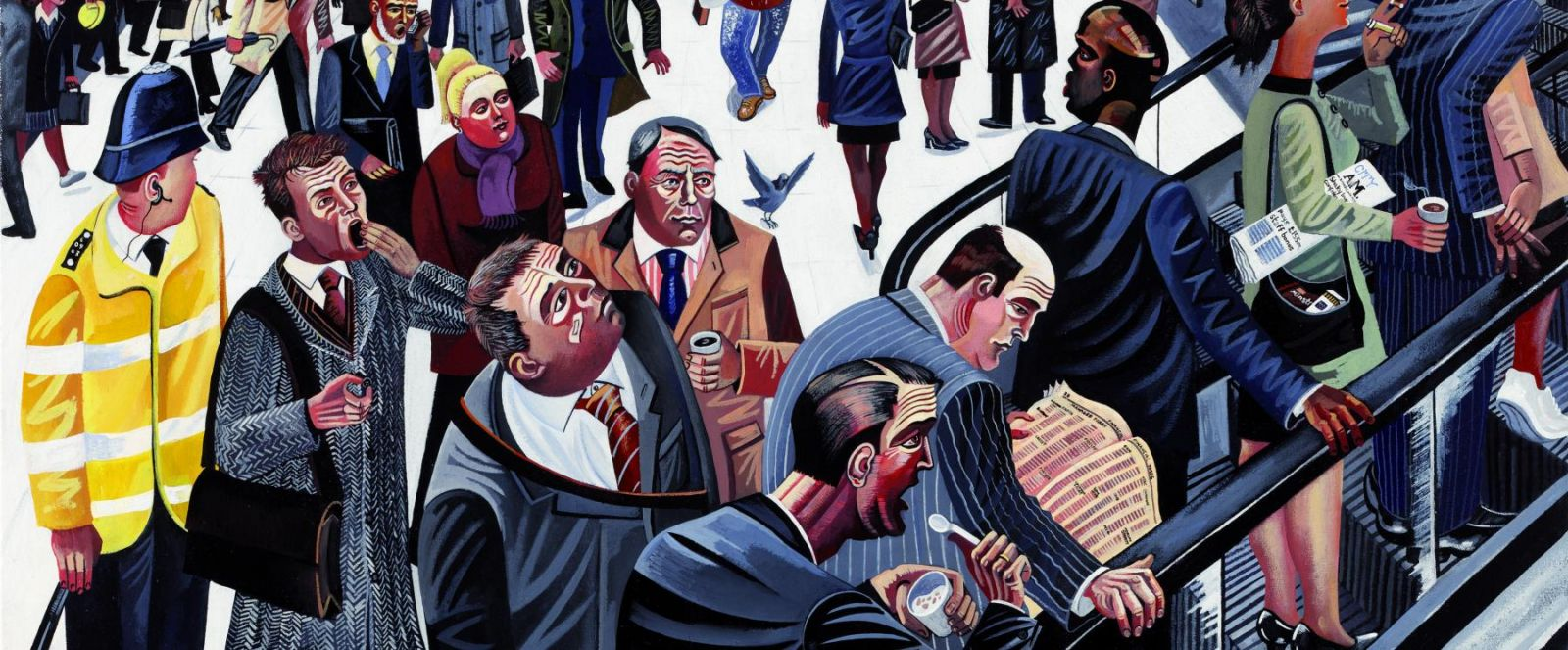 Ed Gray Art Paintings of City Life​
