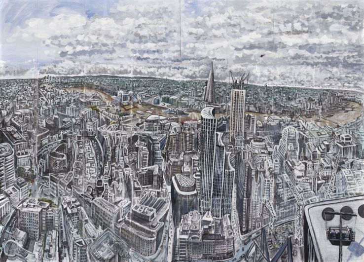 City of london from the gherkin 30 st mary axe