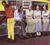 Downtown train amish girls new york metro nyc