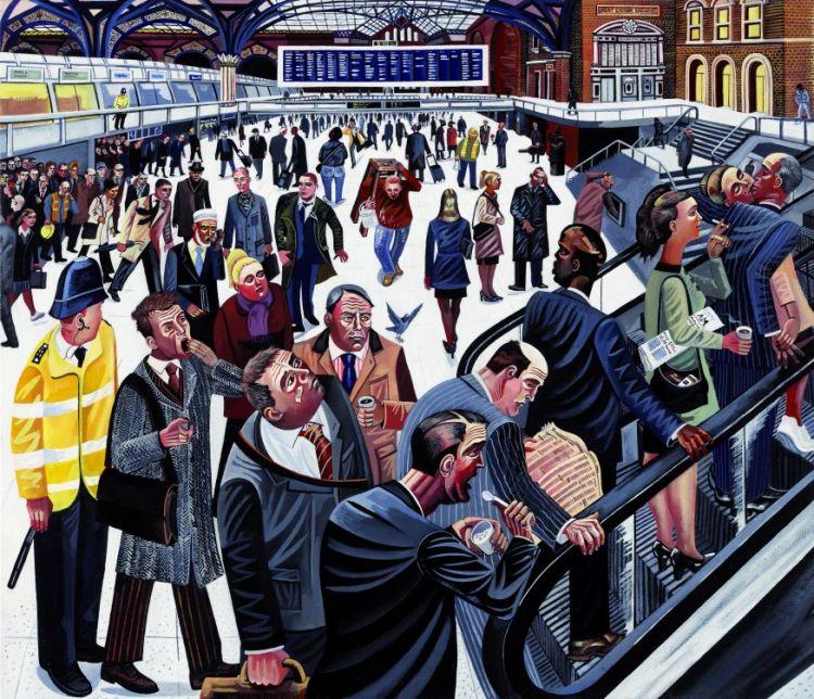 Liverpool street train station 8.48am city of london