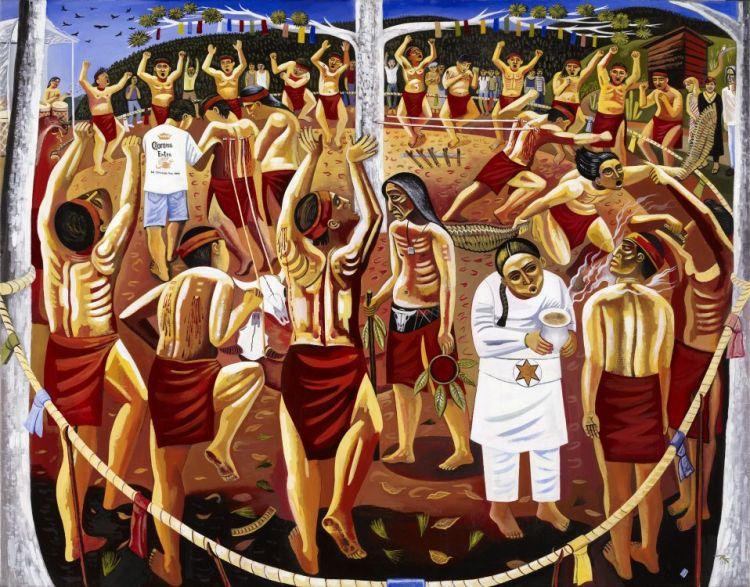 Sioux sundance danza del sol malinalco mexico