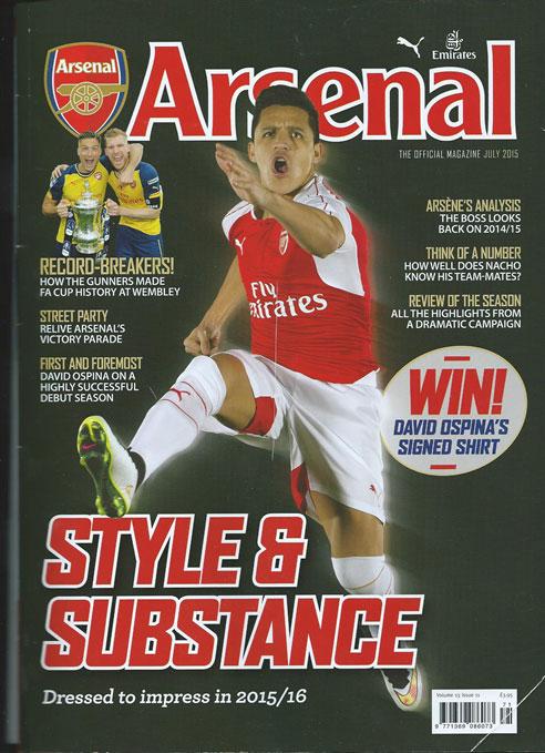 Arsenal magazine cover july 2015 1