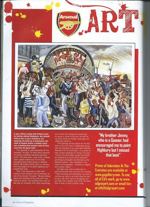 Arsenal magazine cover july 2015 2