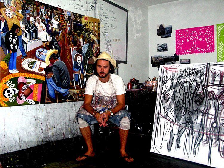 Ed gray in the studio in mexico
