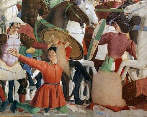 Piero della francesca battle between heraclius and chosroes