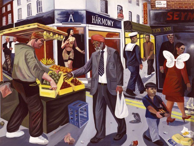 Berwick street market soho london