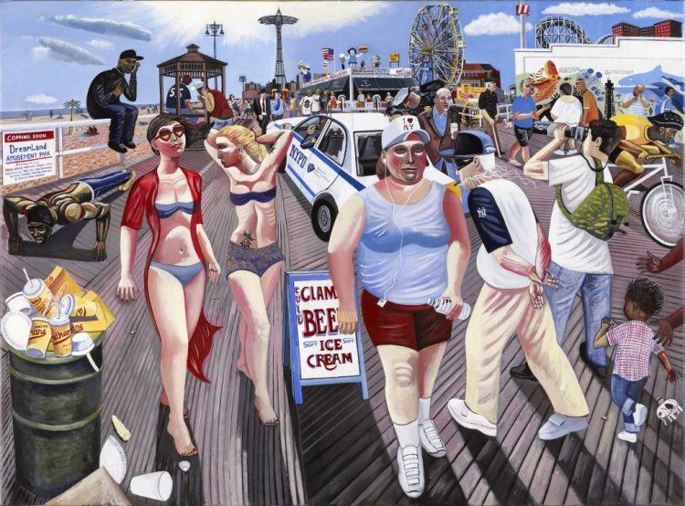 Coney island boardwalk brooklyn new york