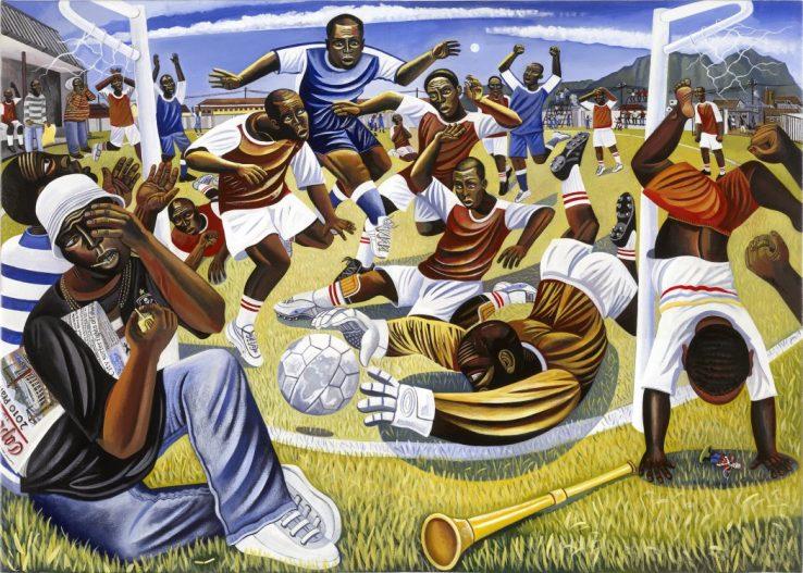 Gugulethu township football match cape town south africa gugulethu strike