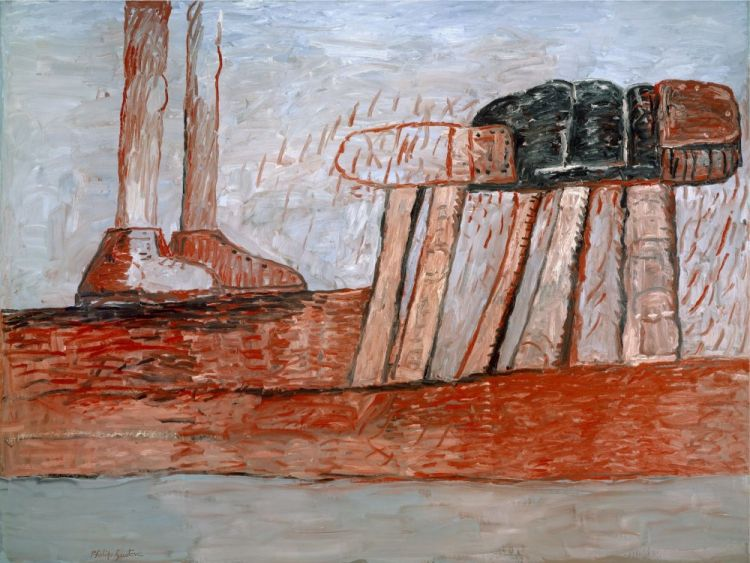 Guston lower level 1975 oil on canvas 74 x 98 5 in 171 x 185 cm