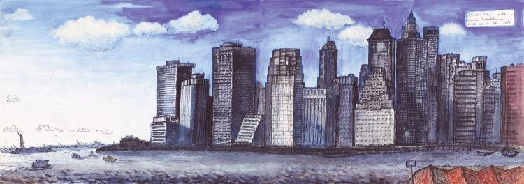 Lower manhattan cityscape new york city
